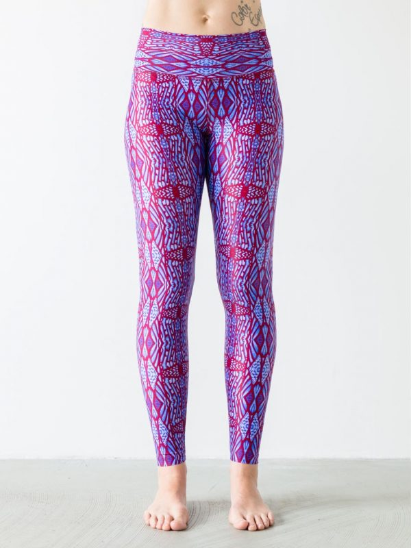 Leggings Woodstories Red Front